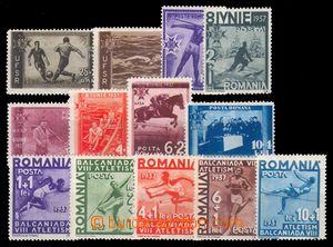 95026 - 1937 Mi.528-535, 25. výročí rumunské sportovní unie + Mi.538