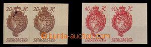 95064 - 1920 Mi.20, 23, nezoubkované 2-pásky s pravým okrajem, hodno