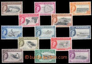 95073 - 1956 Mi.62-74 Alžběta II. + motivy, kompletní série, pěkné,