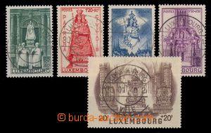 95240 - 1945 Mi.382-386, pěkná kruhová razítka , kat. 220€