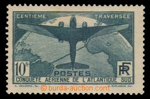 95291 - 1936 Mi.327, letecká 10Fr, po nálepce