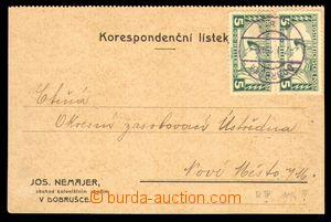95380 - 1919 firemní lístek vyfr. 2-páskou rakouských spěšných zn. M
