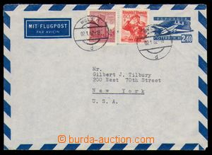 95387 - 1962 Mi.LU5, air postal stationery cover 2,40Sch, uprated wi