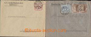 95422 - 1925 2ks firemní dopisů adresovaných do Rakouska, 1x vyfr