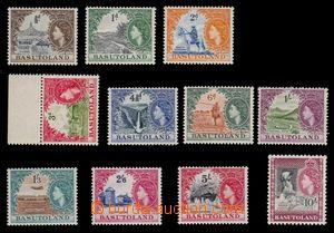 95441 - 1954 Mi.46-56, Alžběta II. + motivy, pěkné, kat. 100€