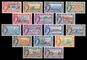 95445 - 1954 Mi.163-78, Alžběta II. + motivy, pěkné, kat. 100€