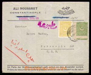 95643 - 1924 dopis do ČSR vyfr. zn. Mi.808, 810, DR nečitelné, úředn