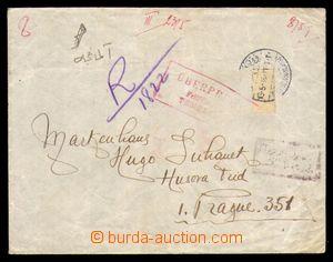 95799 - 1918 dopis do Prahy, známka odlepena před cenzurou, cenzorsk