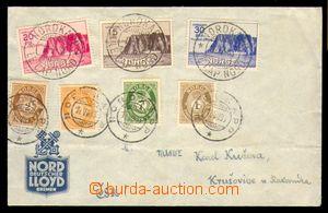 95811 - 1938 filatelisticky motivovaný dopis via společnost LLOYD do