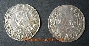 96099 - 1636-37 Čechy  Ferdinand II., Ferdinand III., 2x 3Kr, mincov
