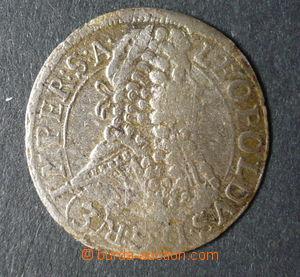 96101 - 1697 Čechy  Leopold I., 3Kr, mincovna Praha, Ag, kvalita 2-/