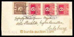 96297 - 1918 dopis vyfr. rakouskou novinovou zn. Mi.212, Merkur 2h h