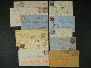 96305 - 1858-1909 BAYERN, WÜRTTEMBERG, DR  sestava 11ks dopisů, mj.