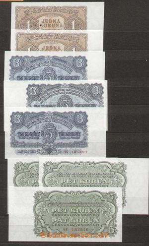 96331 - 1953-61 ČSR II.   sestava 18ks bankovek Ba.86-93, 95-97 dárk