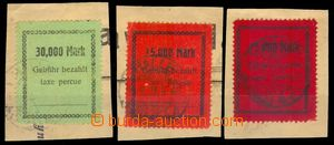 96345 - 1923 LOCAL ISSUE / HALLE  comp. 3 pcs of stamps, values 30.0