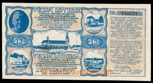 96346 - 1926 ČSR I.  los věcné loterie hodnoty 5Kč, družstvo Velehra