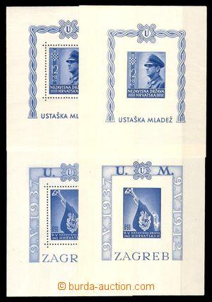 96365 - 1943 Mi.Bl.3A+B, Bl.4A+B, sestava 4ks aršíků, vždy s perfora