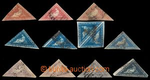 96433 - 1853-1864 sestava 12ks známek, z toho 1x 2-páska, kat. min.