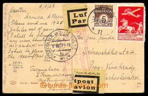 96454 - 1927 Let-pohlednice do ČSR, vyfr. zn. Mi.118, 145, DR KOBENH