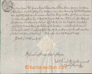 96820 - 1799 RAKOUSKO, BAVORSKO  potvrzení o zaplacení 1750G, složen
