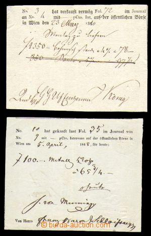 96821 - 1810-48 AUSTRIA  comp. 2 pcs of payment certificate of burzo