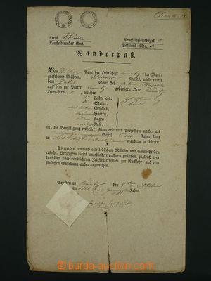 96846 - 1820 RAKOUSKO  tištěný cestovní pas, vystavený na jméno Anto