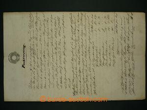 96850 - 1840 RAKOUSKO  vícestránková nájemní smlouva s vtištěným kol