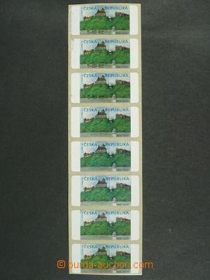 97249 - 2000 Pof.AT1  Veveří, varianta I., 8-páska různých zajímavos
