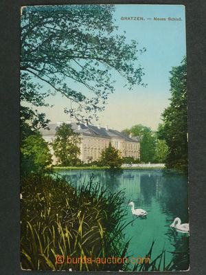 97450 - 1913 NOVÉ HRADY (Gratzen) - castle, view over pond, Us, bum