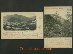 97458 - 1898 HAINFELD - comp. 2 pcs of Ppc, general view, railway-st