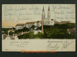 97462 - 1905 KLOSTERNEUNBURG - pohled na kostel, DA, prošlá, odře