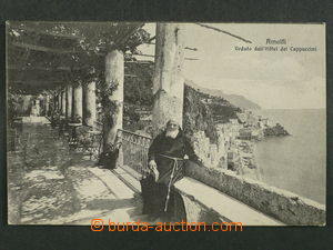 97466 - 1913 AMALFI - view of town from hotel Capuccini, Us, good co