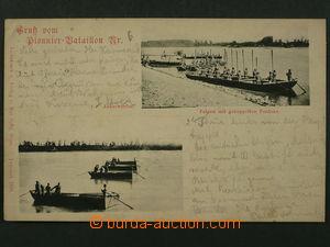 97476 - 1899 RU ženijní jednotka, 2-okénková pohlednice, DA, prošlá,