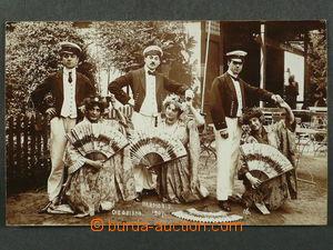 97477 - 1907 GRONINGEN - návštěvníci letní restaurace, ateliér