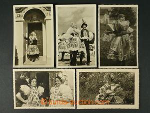 97480 - 1940-50 sestava 5ks pohlednic, 3x prošlé, dobrý stav