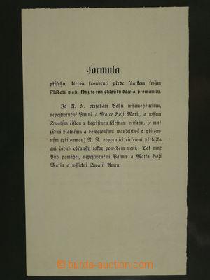 97591 - 1860? WEDDING BANNS  bilingual preprinted text manželské p