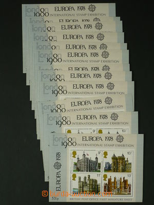 97634 - 1978 Blok 1 (Mi.760-763), Historické budovy (výstava známek)