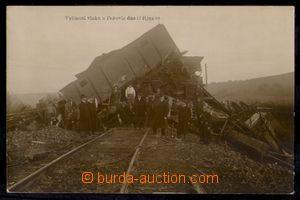 97757 - 1909 POPOVICE - vykolejení vlaku u Popovic dne 13. října 09