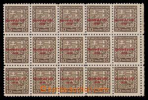 97857 - 1939 Alb.3, Znak 10h, 15-blok s pravým okrajem, na ZP 80 + Z