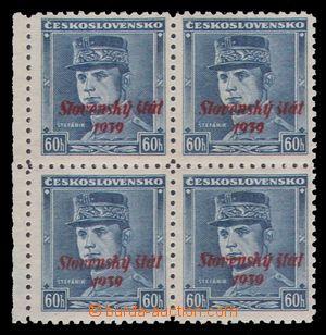 97883 - 1939 Alb.11, Štefánik 60h, krajový 4-blok, kat. 1400Sk