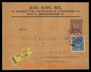 97930 - 1918 soukromá celinová obálka s přitištěnou zn. 3h Koruna vy
