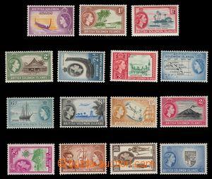 97934 - 1956 Mi.81-97, Královna Alžběta II. + motivy, chybí 90 a 92