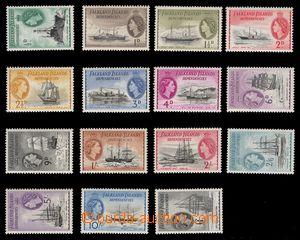 97936 - 1954 Mi.19-33, Královna Alžběta II. + lodě, kompletní série,