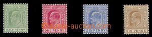 97938 - 1906-11 Mi.30-33, Eduard VII., stopy po nálepkách, kat. 100€