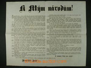 98059 - 1859 VYHLÁŠKA K mým národům, vyhlášení války Sardínii v češt