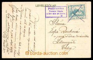98189 - 1920 poštovna TOVÁRNÍ OSADA/ NOVÉ MĚSTO POD ŠIATOREM, kat. G