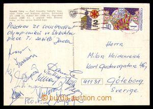 98739 - 19?1 SPORTOVCI / ATLETIKA  pohlednice z Vysokých Tater zasla
