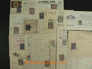 99264 - 1902-42 ČSR I., RAKOUSKO  sestava 16 kusů kolkovaných doklad