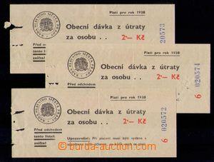 99486 - 1938 ČSR I. / BOLETY  sestava 3ks bolet z Prahy, zachovalé